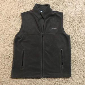 Size M Men's Columbia Fleece Vest Grey